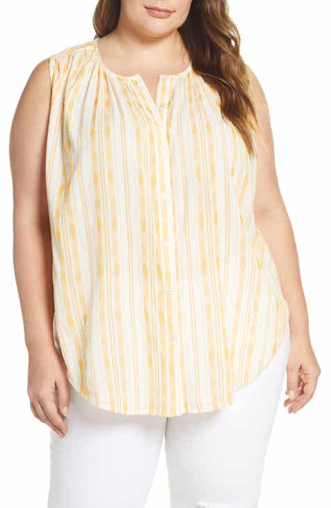 237e084f8519cf Lucky Brand Stripe Cotton Shirt (Plus Size)