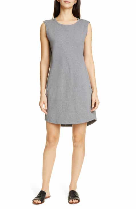 363713dcc99 Eileen Fisher Scoop Neck Sleeveless Dress (Regular   Petite)