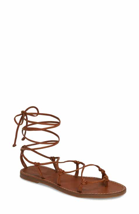 46a694b7de2219 Madewell The Boardwalk Lace-Up Sandal (Women)