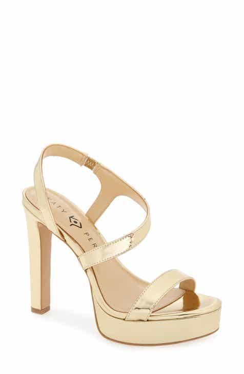 5979c67c5b801f Katy Perry Naomi Metallic Platform Sandal (Women)