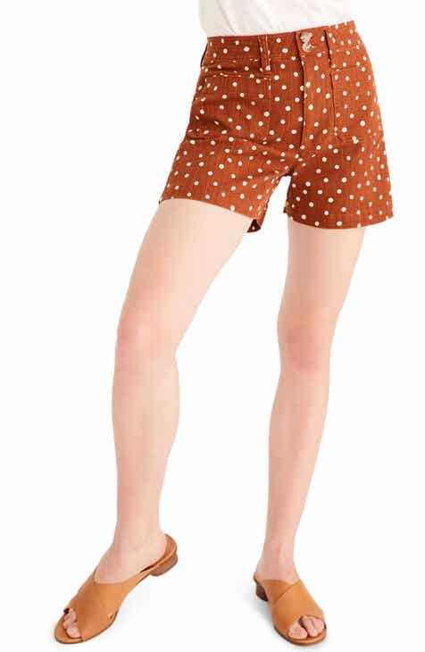 Madewell Emmett Inkspot Dots Patch Pocket Shorts by MADEWELL