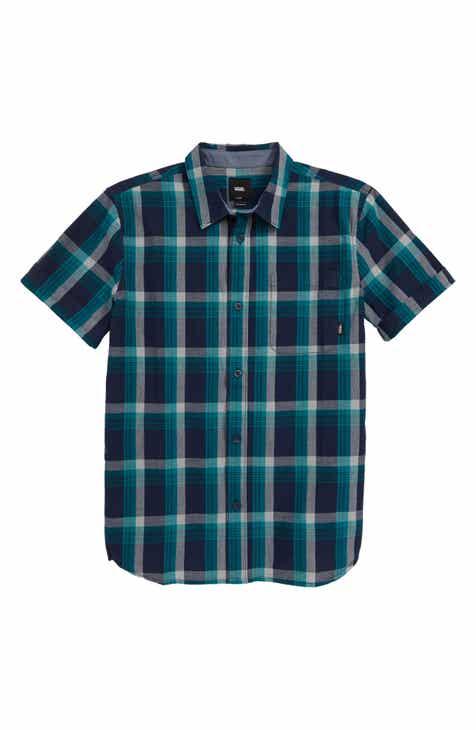 932389d09a9 Vans Kearney Plaid Woven Shirt (Big Boys)