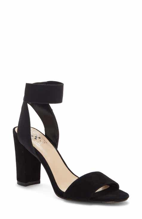 2248e82f9cc3 Vince Camuto Ankle Strap Sandal (Women).  98.95. Product Image. BLACK  LEATHER