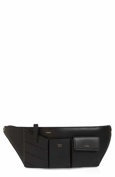 40d362f0b4 Fendi Calfskin Leather Belt Bag