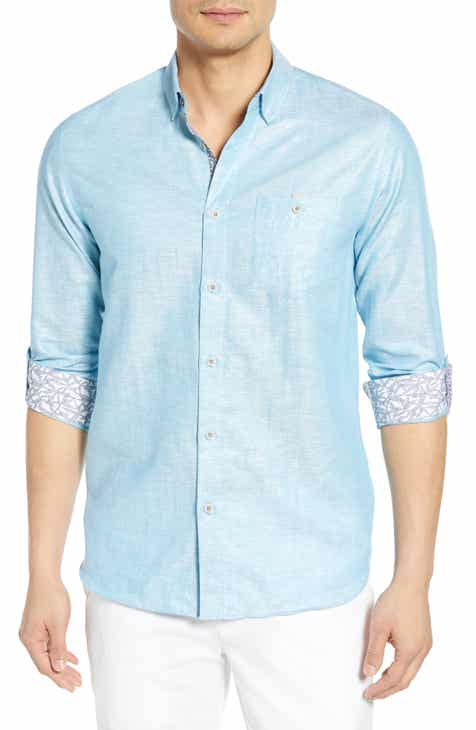 dc026e45d077 Ted Baker London Emuu Slim Fit Linen Shirt