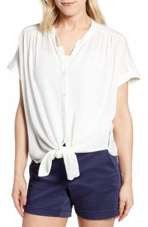 792688a9944b Caslon® Relaxed Button Front Top
