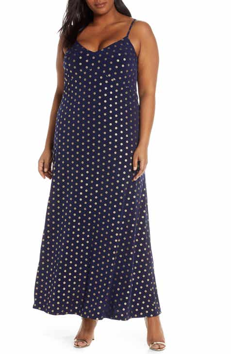 0581433d1c MICHAEL Michael Kors Foil Medallion Print Maxi Dress (Plus Size)