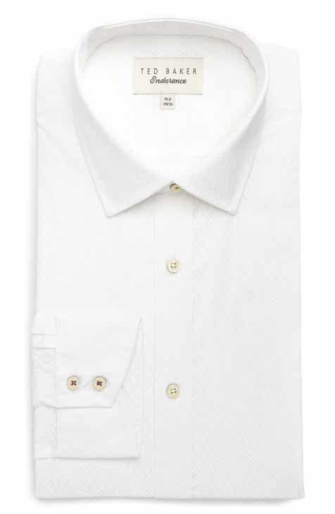 b3a384bfa60fac Ted Baker London Musckle Trim Fit Print Dress Shirt
