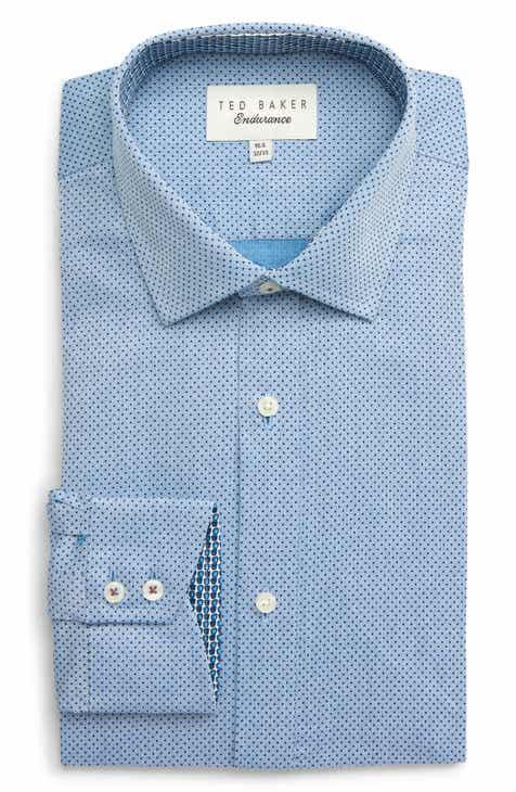 eaa4fb13faa0f0 Ted Baker London Clamme Trim Fit Dot Dress Shirt