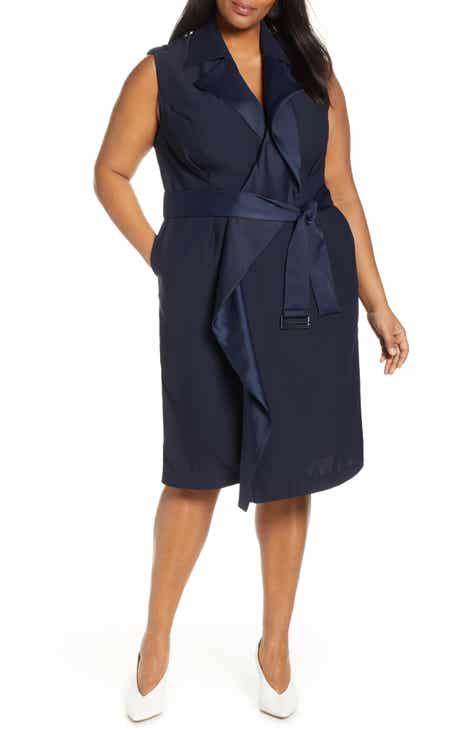 Jason Wu x ELOQUII Sleeveless Trench Dress (Plus Size)