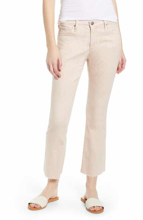 rag & bone Nina High Waist Crop Cigarette Jeans (Lapis) by RAG AND BONE