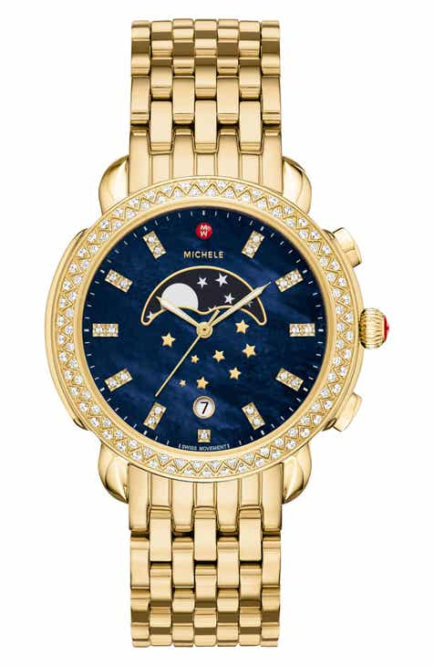 85a954816 MICHELE Sidney Diamond Moonphase Bracelet Watch, 38mm