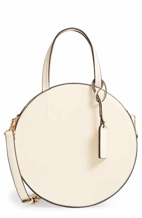 4e7cff0332 Sole Society Palermo Canteen Faux Leather Circle Crossbody Bag