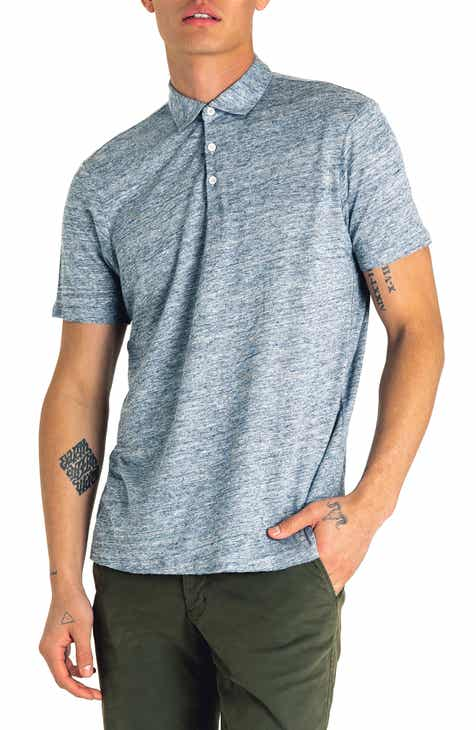 3388dbc4 Good Man Brand Slim Fit Short Sleeve Heathered Linen Polo