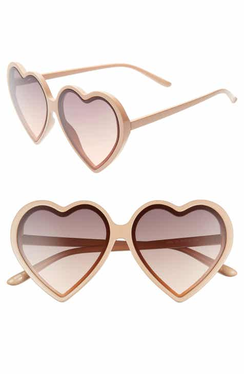 5fe35f0827d 55mm Flat Front Heart Sunglasses