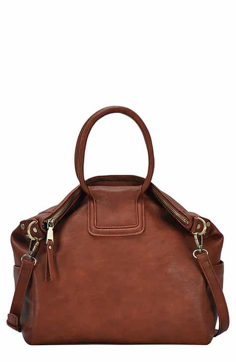 2912cce93c47 ANTIK KRAFT Circular Handle Faux Leather Satchel