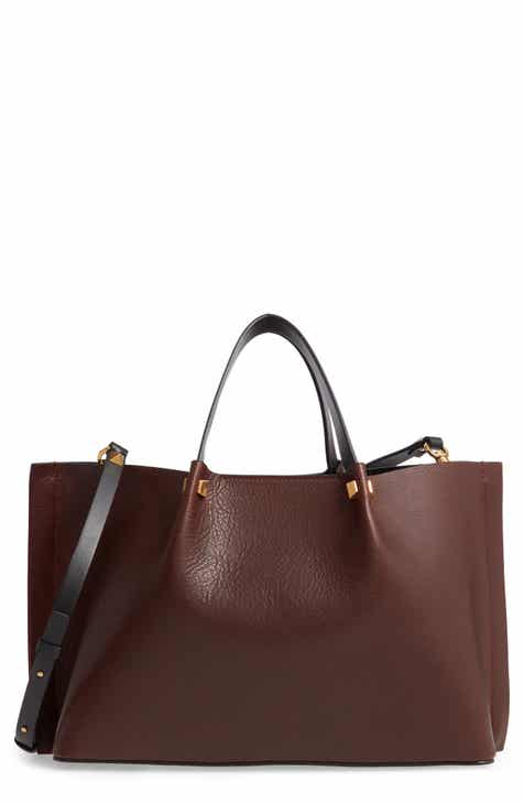 afb6a80f8d82 VALENTINO GARAVANI Medium Go Logo Leather Tote