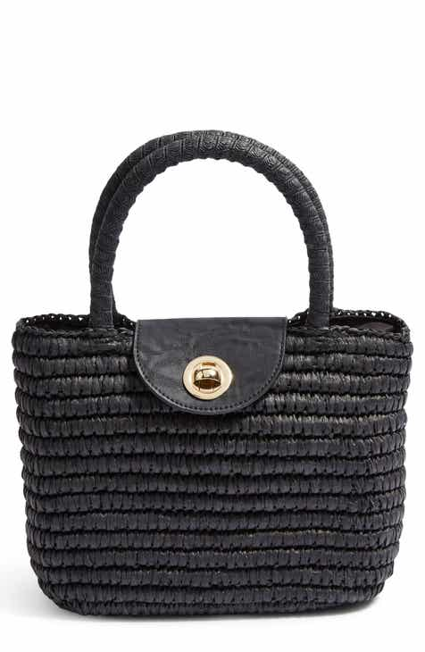 ddbcd96d4c1 Topshop Mini Finch Woven Top Handle Bag