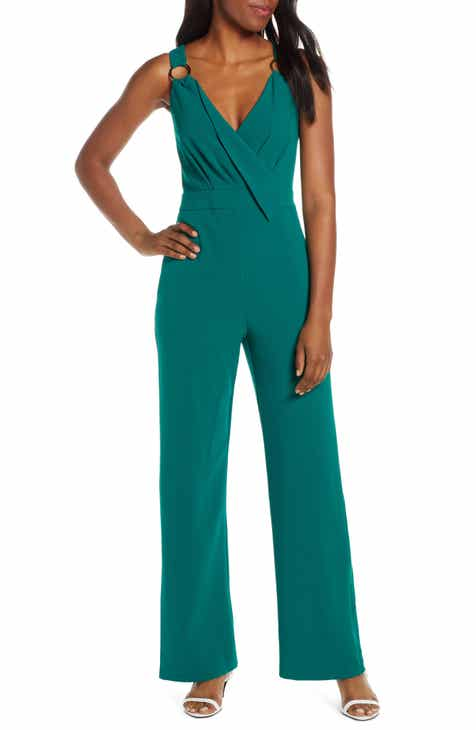 Leith Sleeveless Twist Front Jumpsuit by LEITH