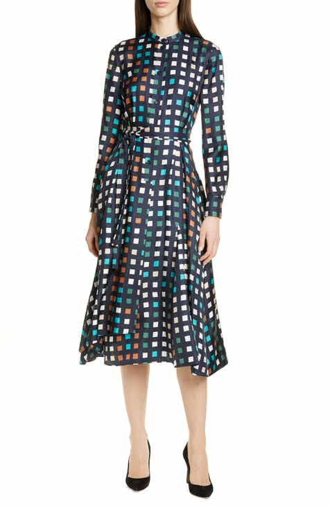 Self-Portrait Floral Sequin Asymmetrical Long Sleeve Dress by SELF-PORTRAIT