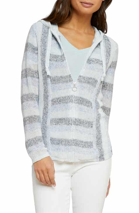 NIC+ZOE Barefoot Front Zip Hooded Sweatshirt (Regular & Petite) by NIC AND ZOE