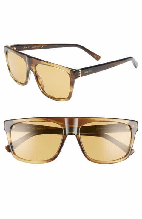 c76e22b5b6 Gucci 57mm Rectangular Sunglasses