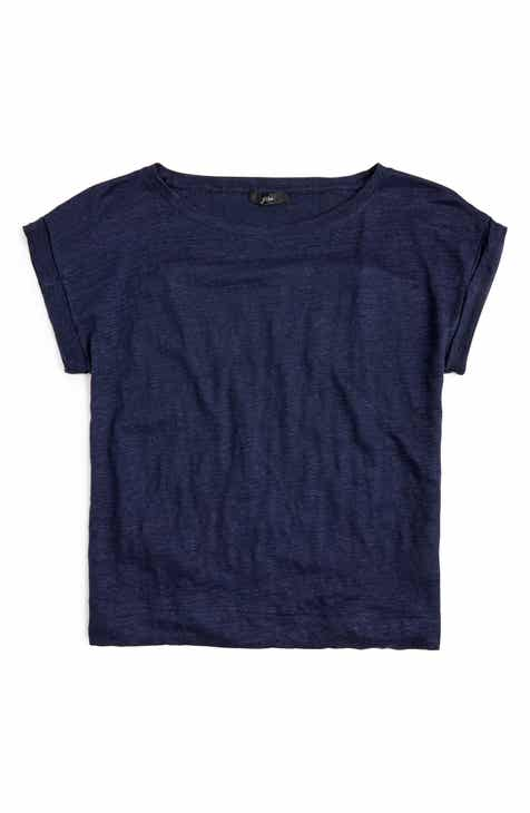 New Design J.Crew Roll-Cuff Linen Tee (Regular & Plus Size) 2019 Online