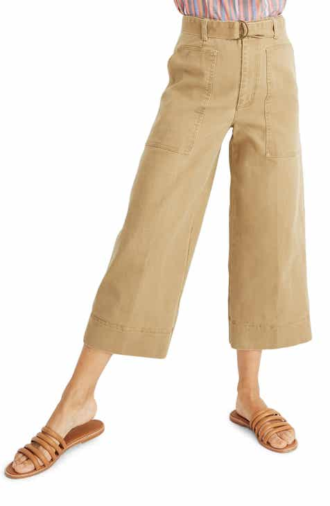1be8f874f1a Madewell Utility Crop Wide Leg Pants