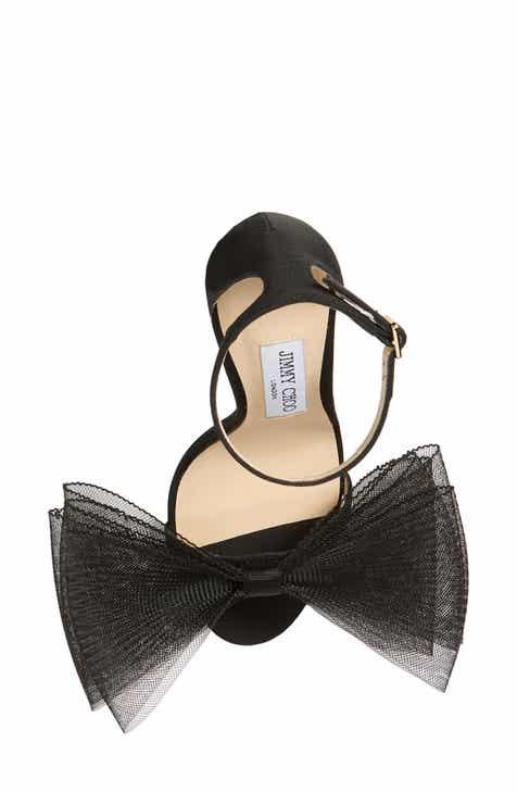 61a0900768f0 Jimmy Choo Aveline Bow Ankle Strap Sandal (Women)