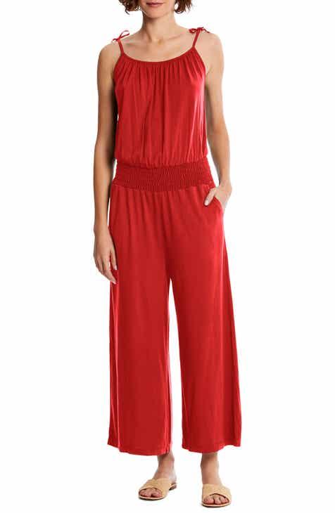 c9ac60551383c Michael Stars Jane Tie Shoulder Crop Jumpsuit