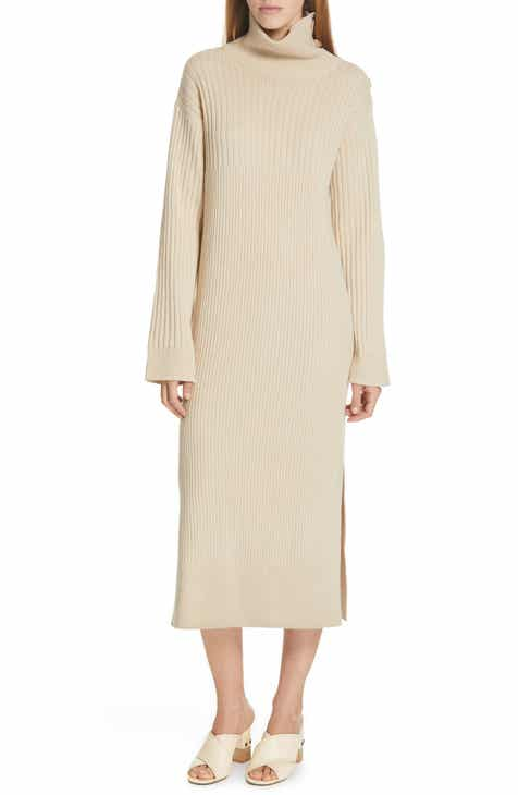 cca34110f1a495 See by Chloé Turtleneck Midi Sweater Dress