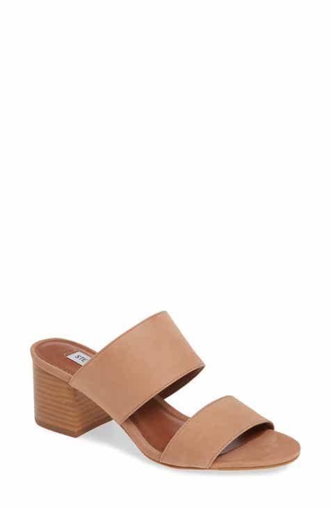0d6fc4c48ae Steve Madden Ilena Block Heel Slide Sandal (Women)