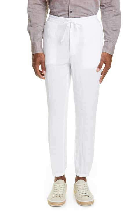 e9262ed2be Z Zegna Slim Fit Linen Jogger Pants