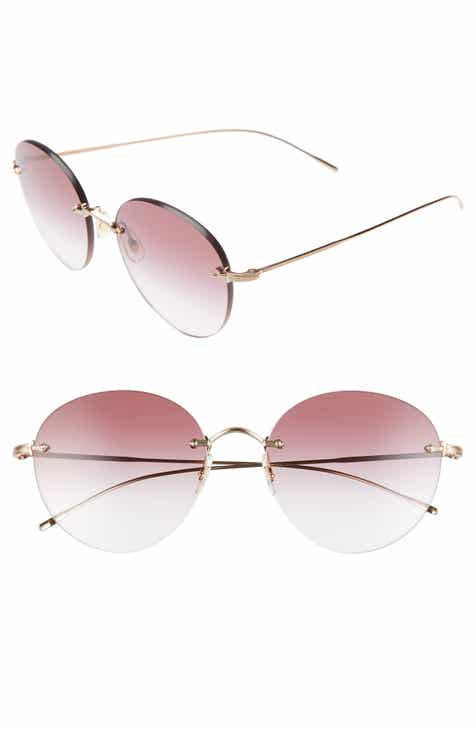 222d99e93a7 Oliver Peoples Coliena 57mm Round Sunglasses