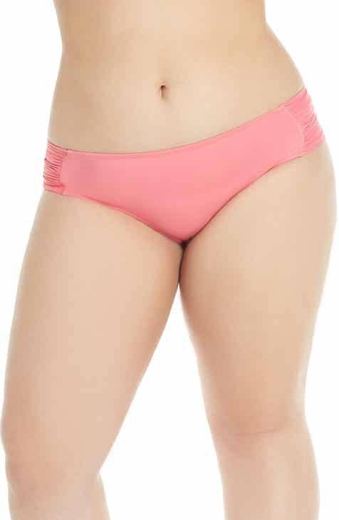 Becca Etc. Color Code Tab Side Bikini Bottoms (Plus Size) by BECCA ETC