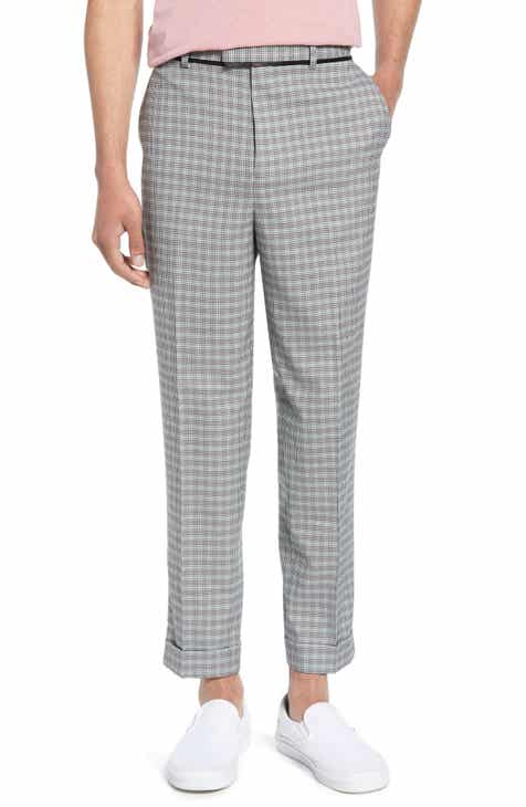 aa660a34a4 Topman Rococo Mini Check Skinny Fit Trousers