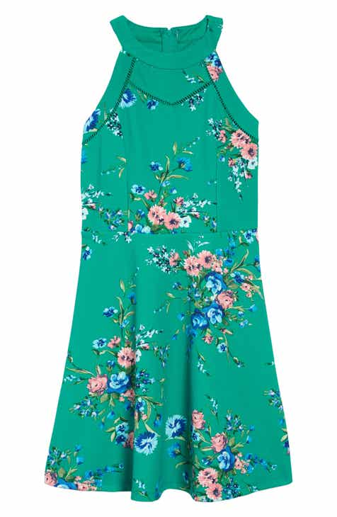 df4c1bcc2 Trixxi Floral Skater Dress (Big Girls)