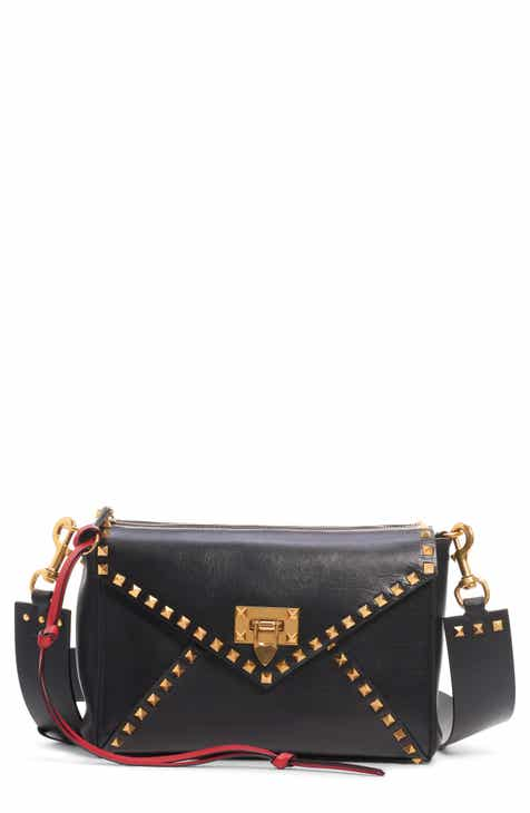 cc96bbf15c VALENTINO GARAVANI Medium Rockstud Hype Leather Shoulder Bag