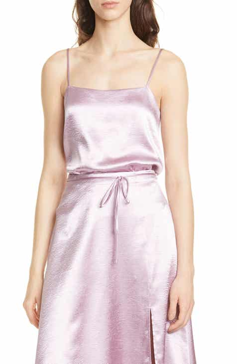 Joie Abdi Hammered Satin Flared Camisole