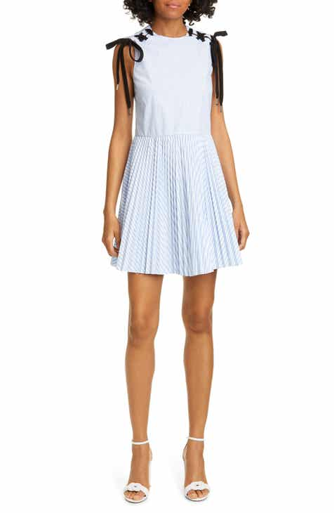 f490ef9dc5a RED Valentino Lace Detail Stripe Minidress. Was  795.00. Now  397.4950% off