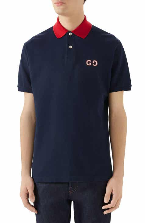 7e90fde91d766 Gucci GG Embroidered Piqué Polo