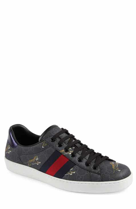 219d26ae73f Gucci New Ace Tiger Print GG Supreme Sneaker (Men)