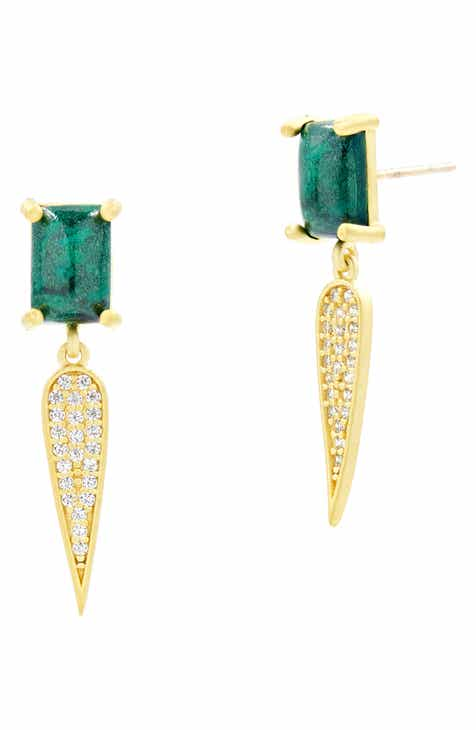 86fccb72f FREIDA ROTHMAN Harmony Pavé Dagger Drop Earrings. $175.00. Product Image