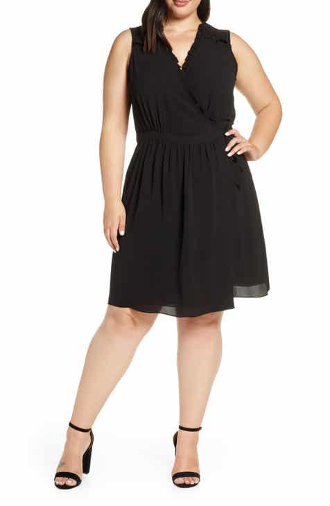 d48584919ff CeCe Smock Detail Wrap Dress (Plus Size)