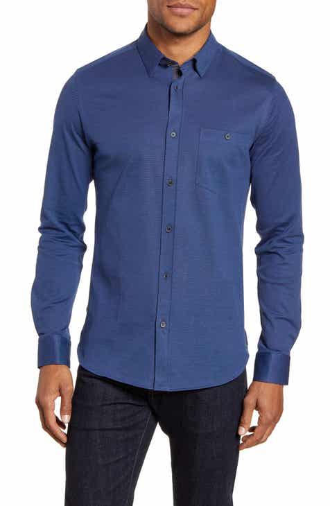 2c651c54d936 Ted Baker London Broader Slim Fit Button-Up Piqué Sport Shirt