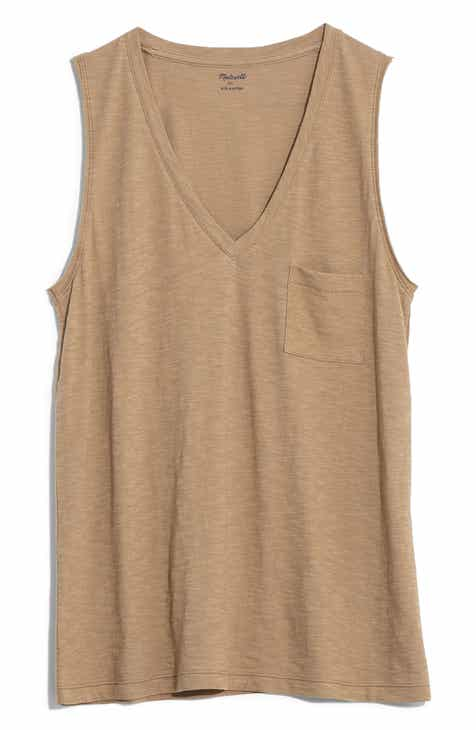 f92dd10b8e Madewell Whisper Cotton V-Neck Tank