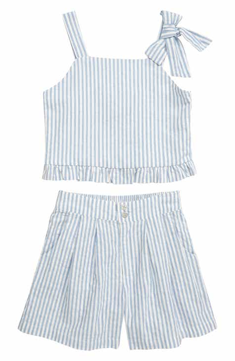 2ee9be56234d Habitual Luciana Stripe Crop Top & Shorts Set (Big Girls)