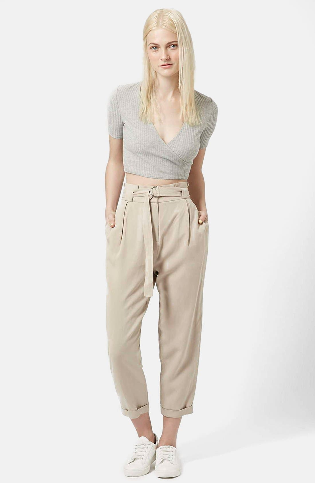 Alternate Image 5  - Topshop D-Ring Tapered Trousers