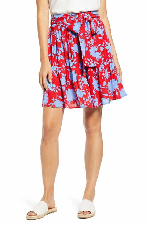 87c5405af1 Capri Tiered Tie Front Summer Skirt (Regular & Petite)