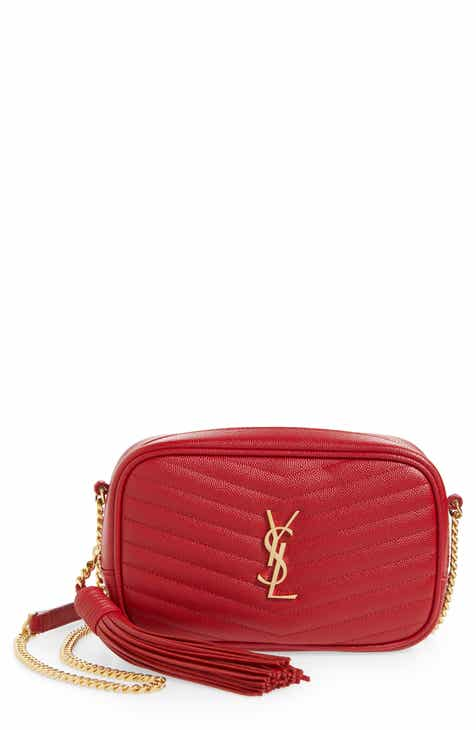 fd9ec82c8b4 Saint Laurent Mini Lou Quilted Leather Crossbody Bag